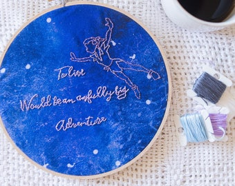 Peter Pan Embroidery // Second star to the right and straight on til morning // Disney Embroidery