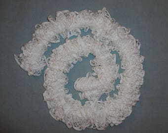 LACE scarf handknitted - white