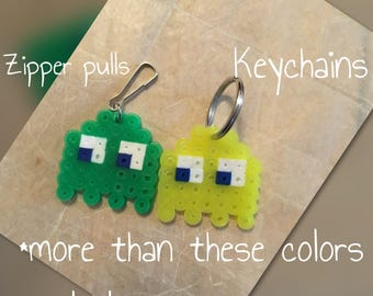 PacMan Ghost Zipper Pulls and Keychains (wholesale)