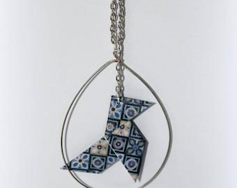 Pine Cone #1 origami necklace