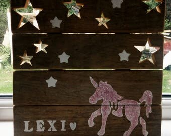 Personalised Pallet Night Light