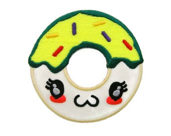 Doughnut Iron On Patch Snacks Embroidered Applique Patches For Jackets