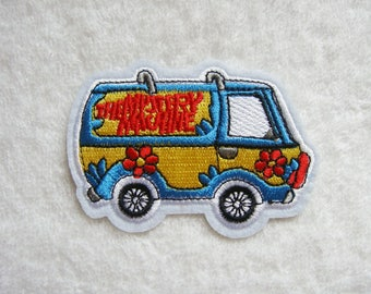 Scooby Doo The Mystery Machine Iron On Patch Van Embroidered Applique Patches For Jackets