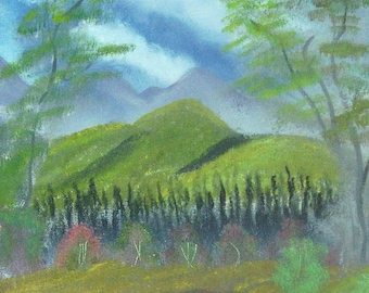 Oil Painting No: 008- Green Mountain.