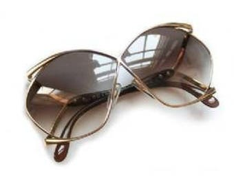 Christian Dior France Butterfly Oversized vintage sunglasses, 70s sunglasses.