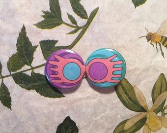 Luna Lovegood glasses badge set