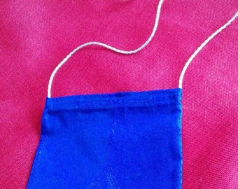 case for smartphone or small tablet washable ironable Royal Blue