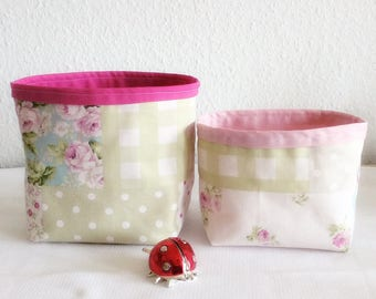 All empty pockets fabric room baby - baskets linen fabric and raspberry - basket makeup