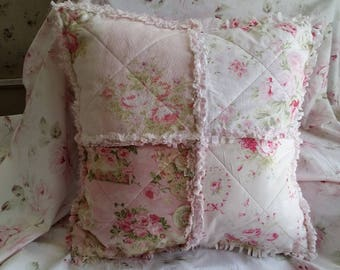GREAT LARGE CUSHION SHABBY CHIC PASTEL PATCHWORK