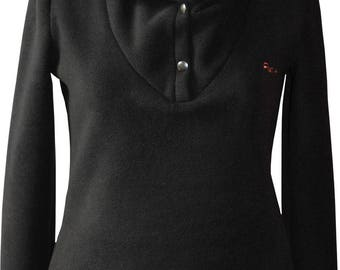 Women sweater made in France of fleece and customizable classic 2