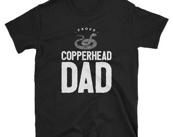 Proud Copperhead Dad Unique Short-Sleeve T-Shirt