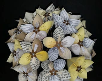 Example 19 origami paper flowers Beige and white