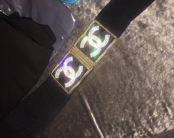 Chanel inspired diamonte belt