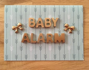 Baby Alarm Grußkarten Greeting Cards 3D