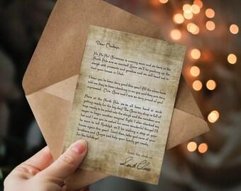 Santa Letter, Personalized Letter From Santa, Christmas Letter, North Pole, Custom Santa Letter, Christmas, Santa Claus Letter, Dear Santa