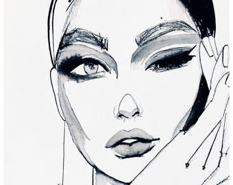 Mood, Print from original Ink illustration