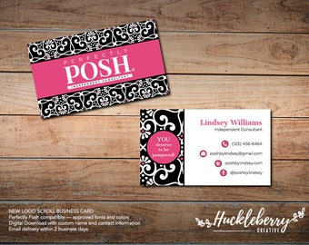 NEW LOGO Perfectly Posh Business Cards, Perfectly Posh Independent Consultant, 3.5x2, Digital Download