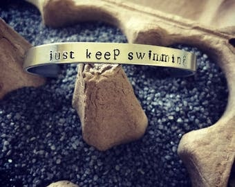 Just Keep Swimming Cuff