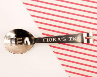 Personalised Tea Strainer - Personalised Teaspoon, Teaspoon Drink Tea, Teaspoon, Tea Accessories, Tea Strainer, Tea Spoon, Tea Lovers, Tea