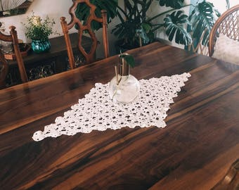 Vintage crotcheted table runner
