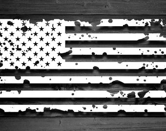 Distressed American Flag Vinyl Decal, Driver Side Only, Flag Decal, Flag Stickers, Distressed Flag, Yeti Decal, Car Decal, American Flag