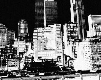 Seattle city scape 11x14 Poster