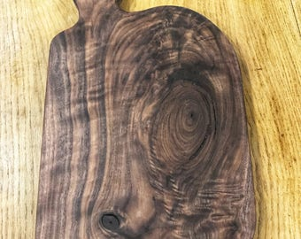 "Walnut Slab Cutting Board/Serving Tray 12""x 9"" w/out Handle"