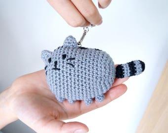 Cat - crochet keychain