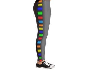 Yogi & Pie Colorful Side Stripes Yoga Leggings