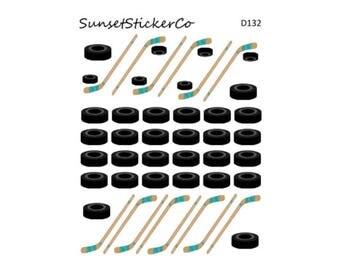 Hockey Icon Stickers (D132)