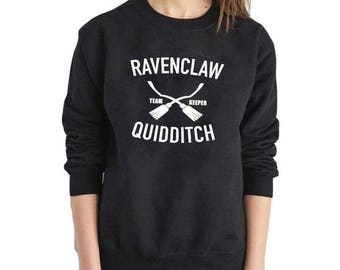 Ravenclaw Quidditch Harry Potter Quidditch Team Keeper Sweatshirt Pullover Pull by Potter Merch