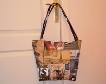 Handbag Paris of yesteryear Brown Camel