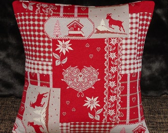 Alpine Chalet, Heart, Edelweiss and Chamois Envelope Cushion Cover