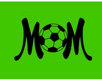 Soccer Mom SVG and Studio 3 Cut File Cutouts Files Logo Stencil for Cricut Brother Silhouette SVGS Stencils Decals Sport Team Cutouts Cutout