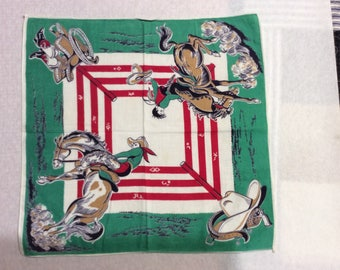 Vintage rodeo handkerchief
