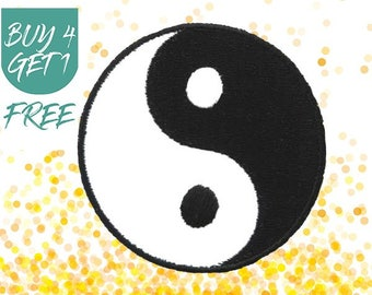 Black White Patches Tai Chi Patch Iron On Patch Embroidered Patch Harmony Yin Yang