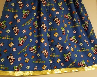 Super Mario Brothers skirt US size 7 girls