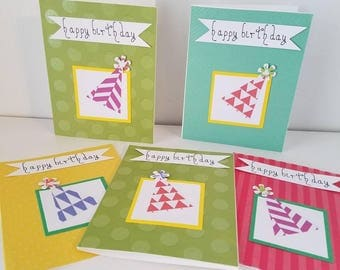 Party Hat Birthday Cards