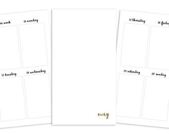 Personal May Weekly Printable Insert - TN/Ring Planner - Plain Cover