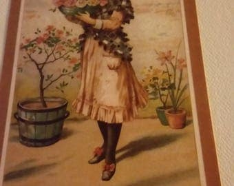 Vintage Greeting Card - Embossed Victorian Birthday Card - Ambassador Heirloom Classics - Woman with Roses