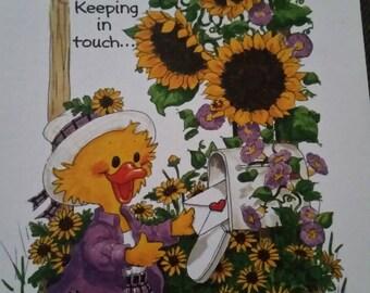 Vintage  Greeting Card ~ Suzy Zoo Card  - Suzy Ducken - Pen Pals
