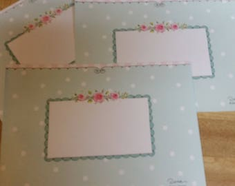 Vintage Envelope Collection ~ Trio of Pink and Blue Decorated Envelopes
