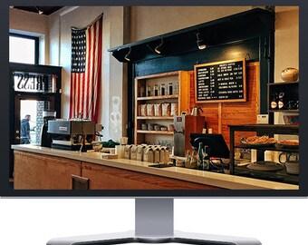 Coffee Shop Restaurant Boutique Website Design WordPress