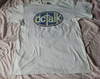 Vintage DC Talk Free At Last Tour 1994 T  Shirt Double Sided Tour Rap Hip Hop Shirt