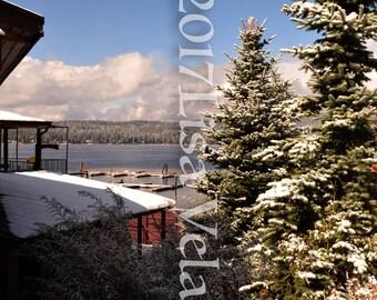 Snowy Payette Lake