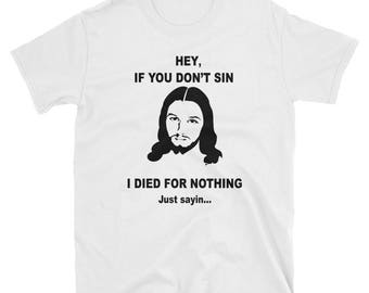 Jeesus Tee Black And White