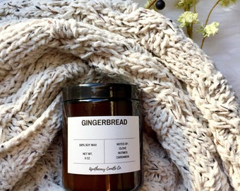 GINGERBREAD   gift candle lover   bestseller gift   girlfriend candle   most sold   trending now   items sold most  best scented candles 8oz