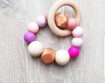 Cupcake // Teething Ring and Rattle