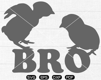 Chicken Bro SVG Files, Chicken Bro Clipart, cricut, cameo, silhouette cut files commercial & personal use