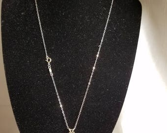 925 Sterling silver CZ pendant and chain